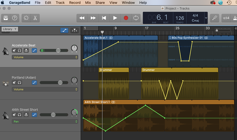 Garageband music production